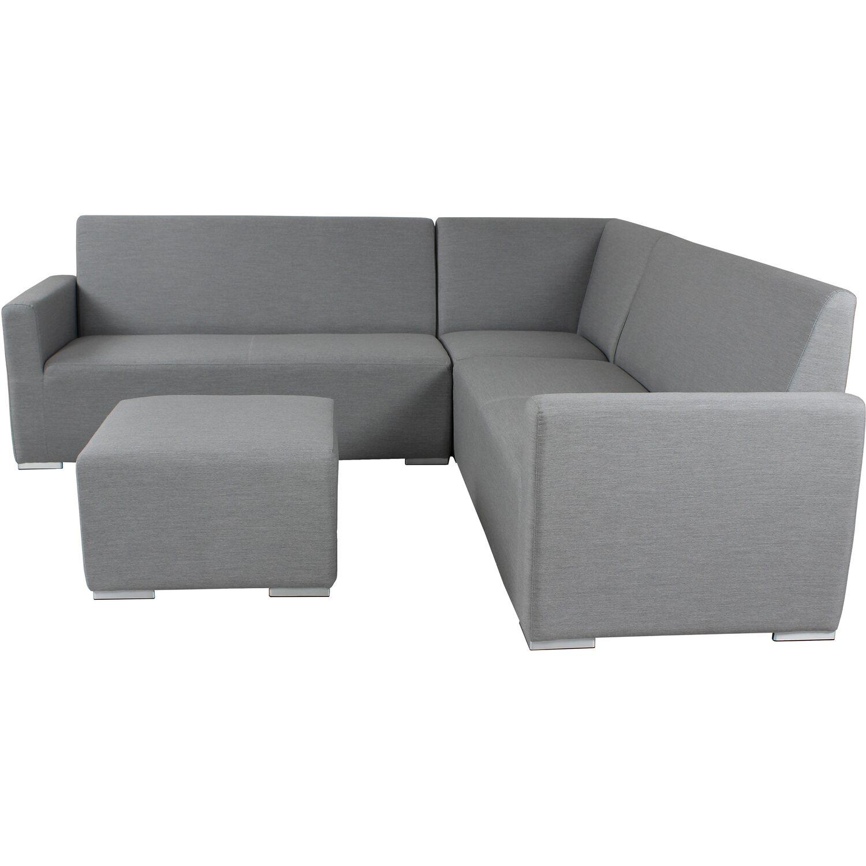 Lounge Gruppe Myth Alu/Textil Grau 4 Tlg.