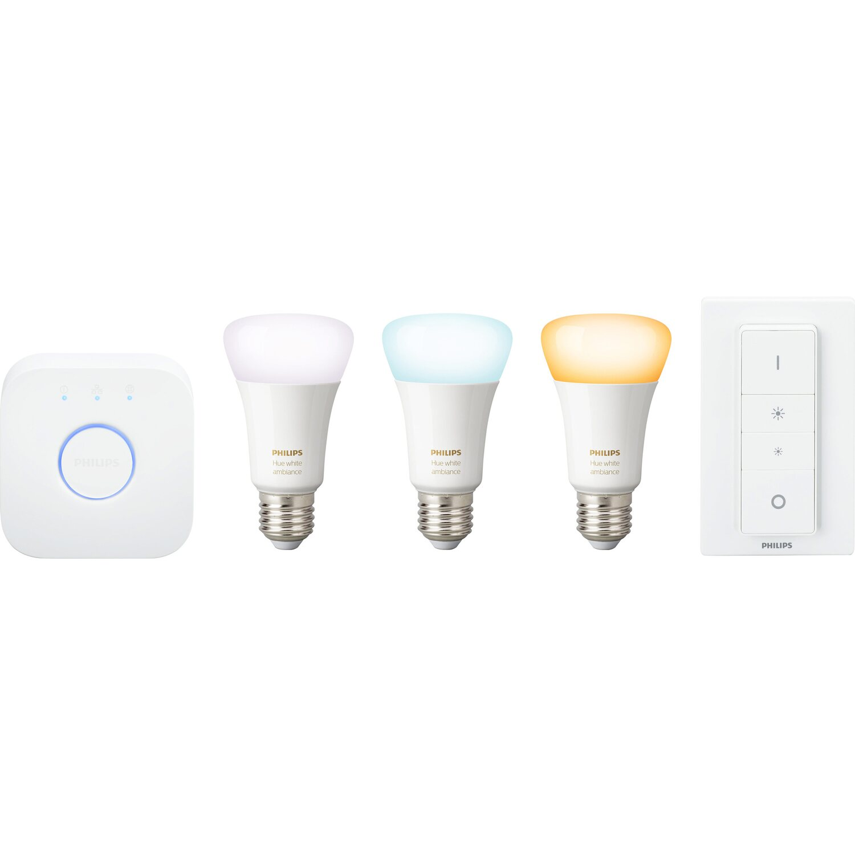 Philips Hue LED-Lampe White Ambiance Starter Kit E27/9,5 W EEK: A+ Preisvergleich
