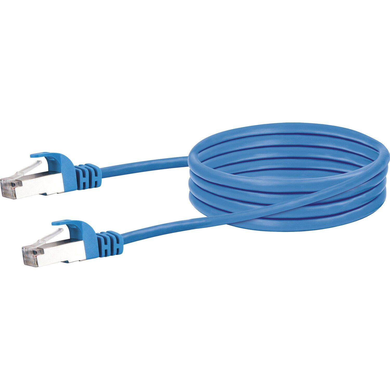 Schwaiger Lan-Netzwerkkabel mit 1000 Mbits Datentransferrate 0,5 m Blau
