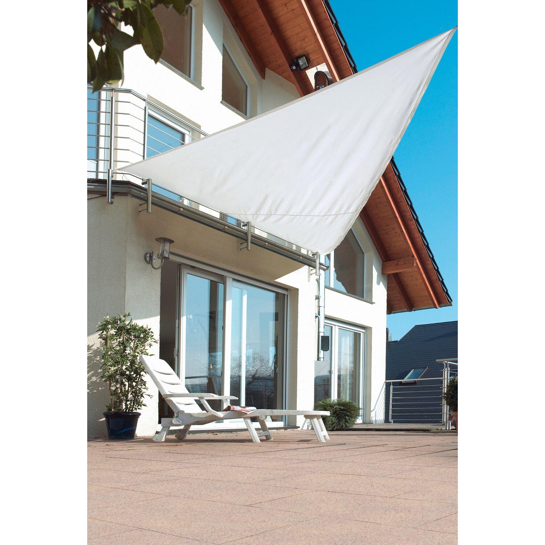 obi dreieck sonnensegel wei 360 cm x 360 cm x 500 cm kaufen bei obi. Black Bedroom Furniture Sets. Home Design Ideas