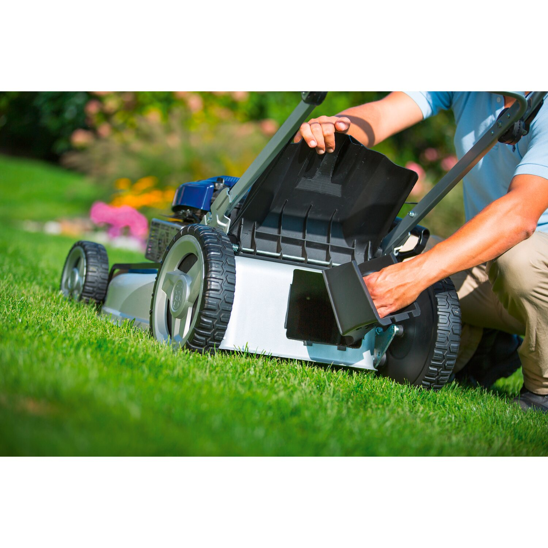lux benzin-rasenmäher b-53 hma 70 l fangsack mit mulch-kit 2,4 kw