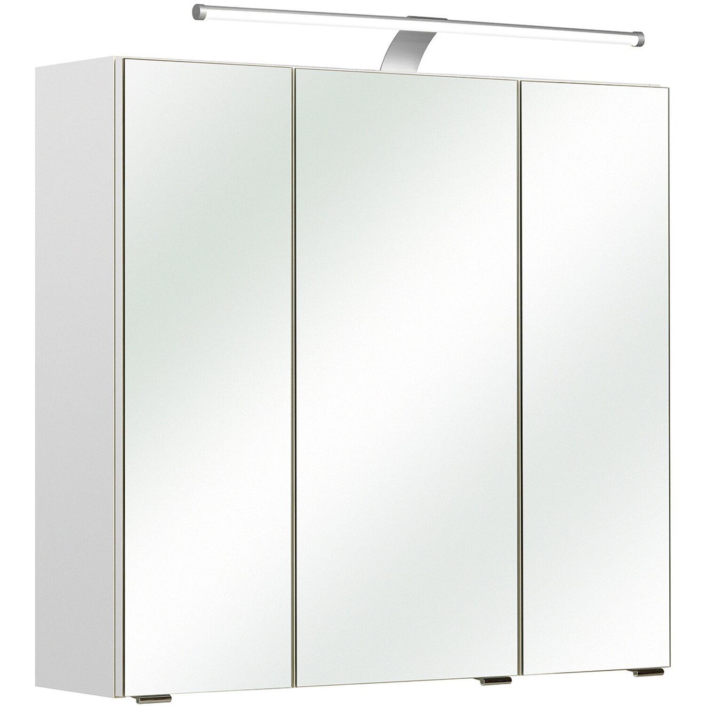 Pelipal Spiegelschrank Ascoli 70 cm x 75 cm x 20 cm Weiß EEK: A++ ...