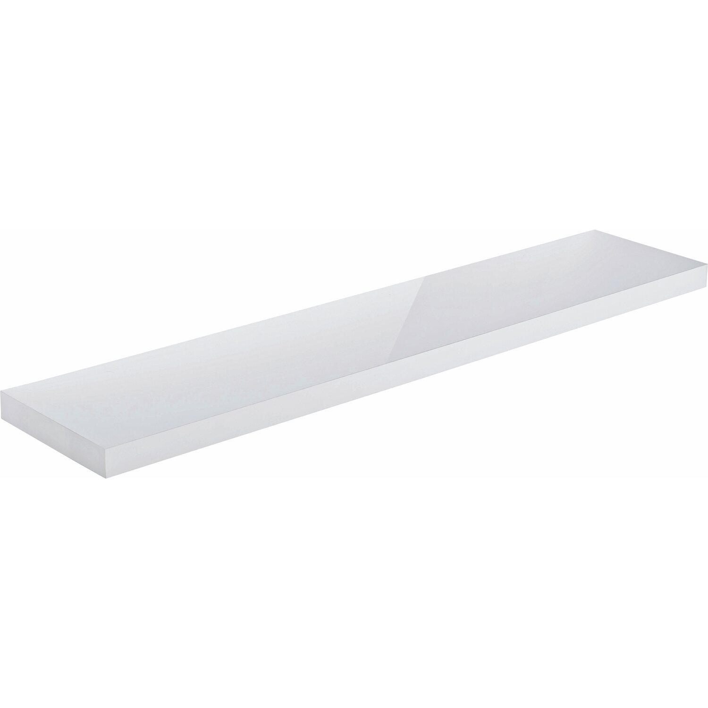 obi regalboden wei hochglanz 3 8 cm x 118 cm x 23 5 cm kaufen bei obi. Black Bedroom Furniture Sets. Home Design Ideas