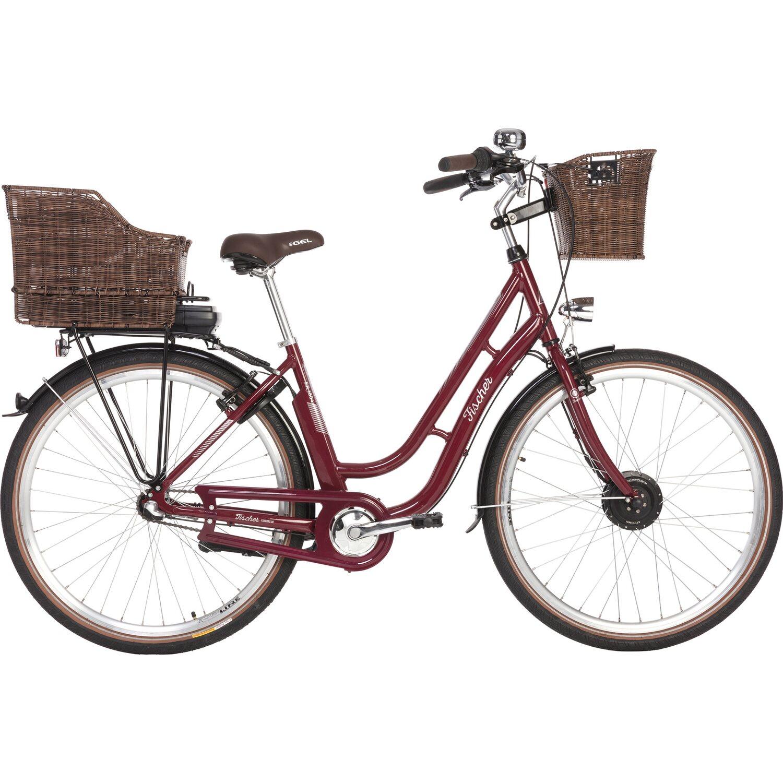Fischer E-Bike City Retro ER 1804-S1 Bordeaux g...
