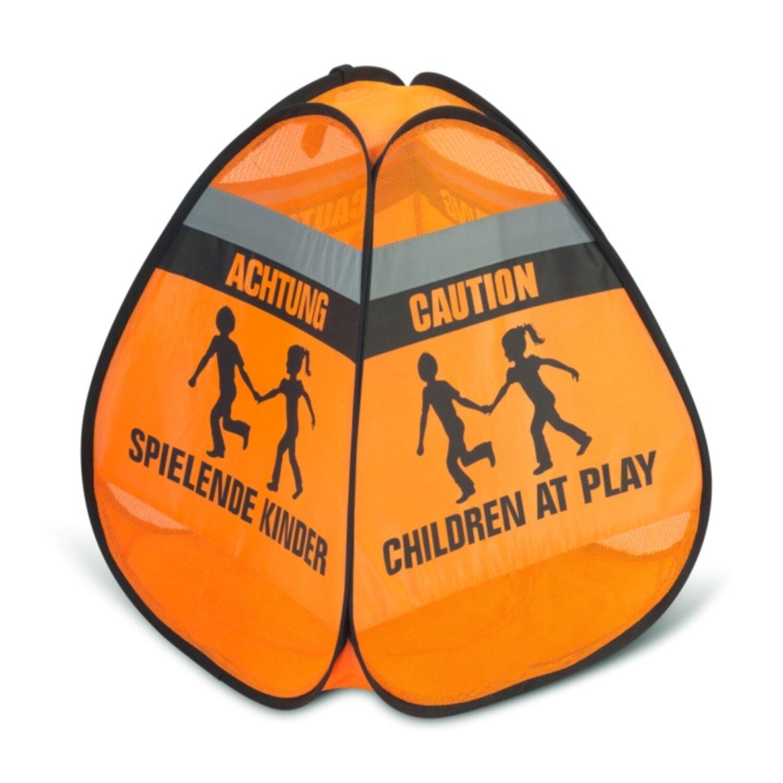 Reer 3D-Straßenwarnschild Spielende Kinder Orange-Schwarz
