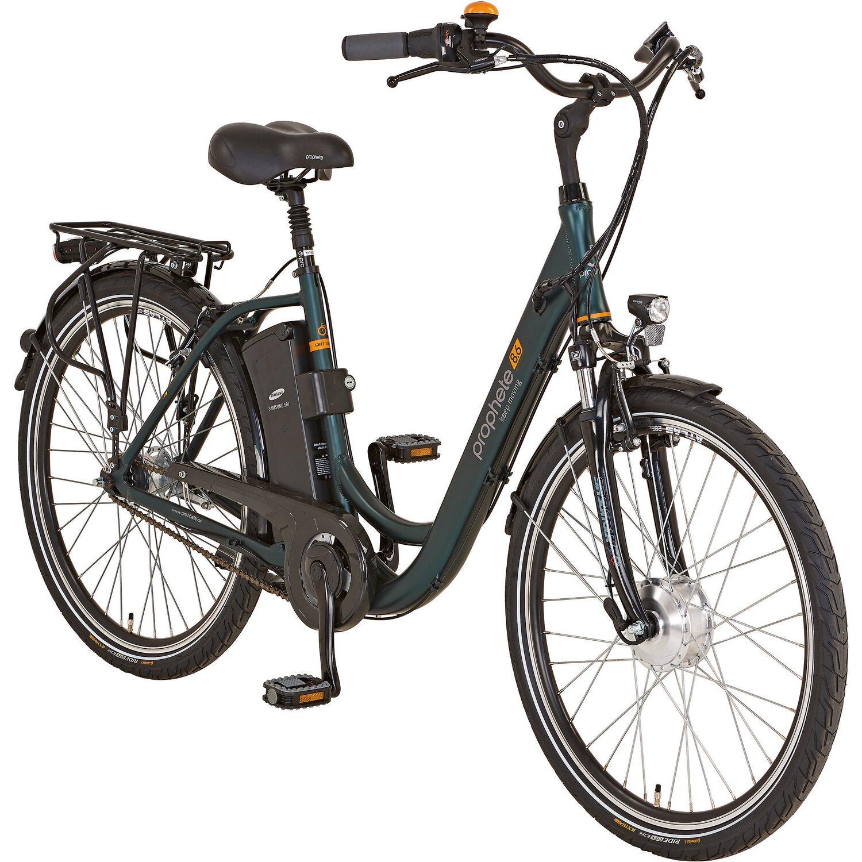 Prophete E Bike Alu City Genießer e8.6 inkl. Zweitakku, Schloss & Packtasche
