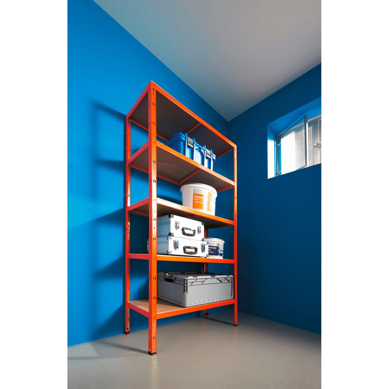 Metall Schwerlast Steckregal Orange 180 cm x 90 cm x 40 cm