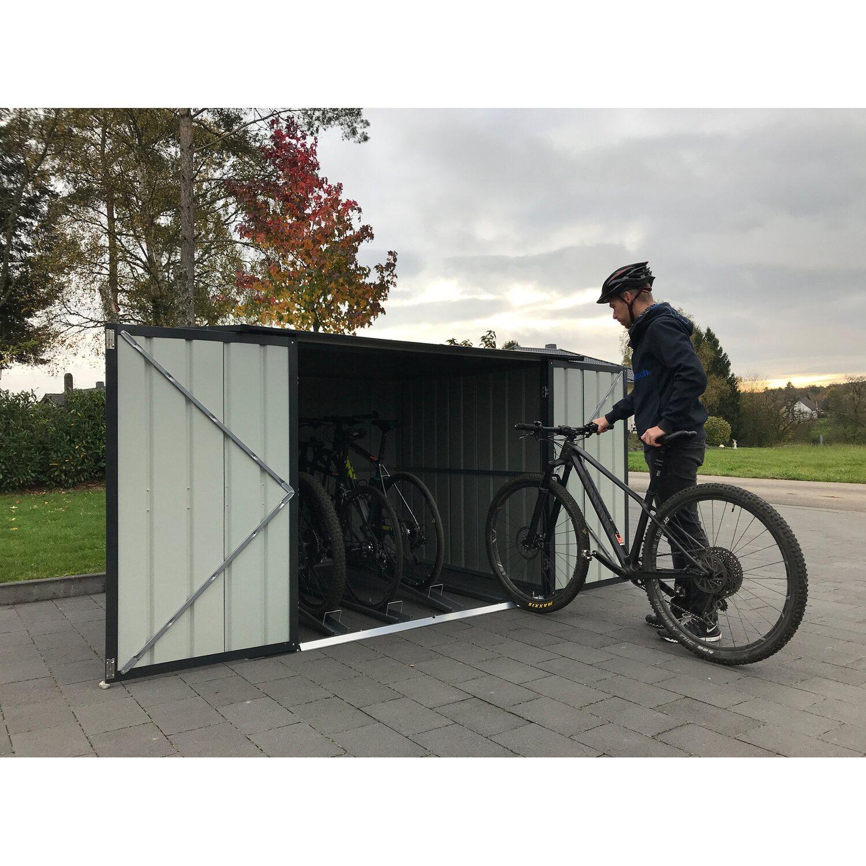 Fahrradbox inkl. 4 Fahrradhalter Anthrazit
