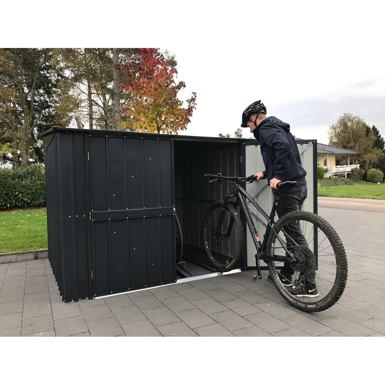 Fahrradbox inkl. 4 Fahrradhalter Anthrazit kaufen bei OBI