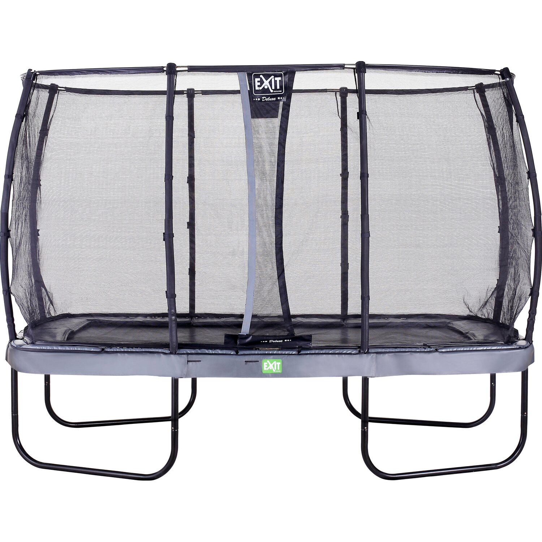 exit trampolin elegant eckig 214 x 366 cm mit sicherheitsnetz deluxe grau kaufen bei obi. Black Bedroom Furniture Sets. Home Design Ideas