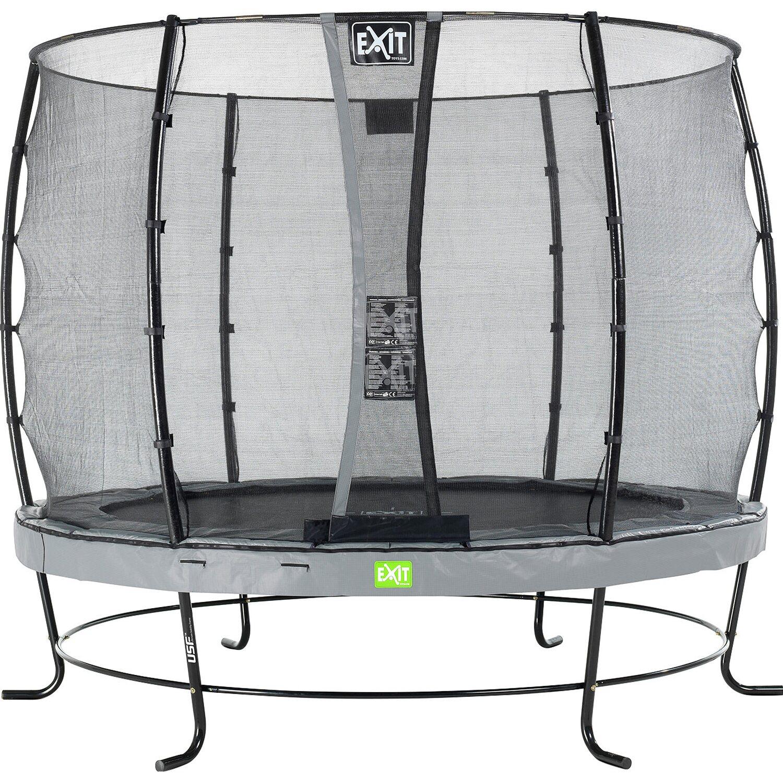 exit trampolin elegant 305 cm mit sicherheitsnetz economy grau kaufen bei obi. Black Bedroom Furniture Sets. Home Design Ideas
