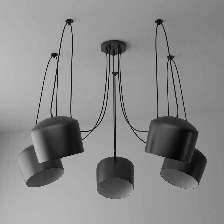 regenbogen pendelleuchte cottbus 5 flammig schwarz eek e a kaufen bei obi. Black Bedroom Furniture Sets. Home Design Ideas