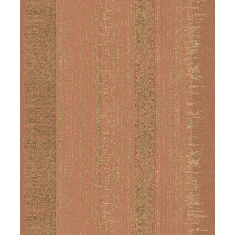 vliestapete la vie streifen orange gold kaufen bei obi. Black Bedroom Furniture Sets. Home Design Ideas