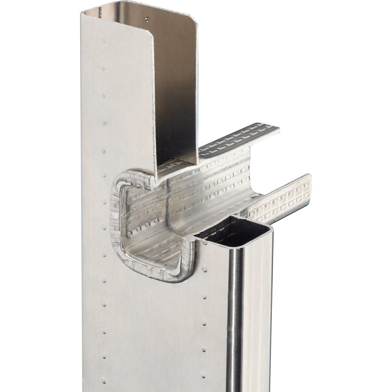 hailo profistep uno aluminium anlegeleiter 12 sprossen arbeitsh he 430 cm kaufen bei obi. Black Bedroom Furniture Sets. Home Design Ideas