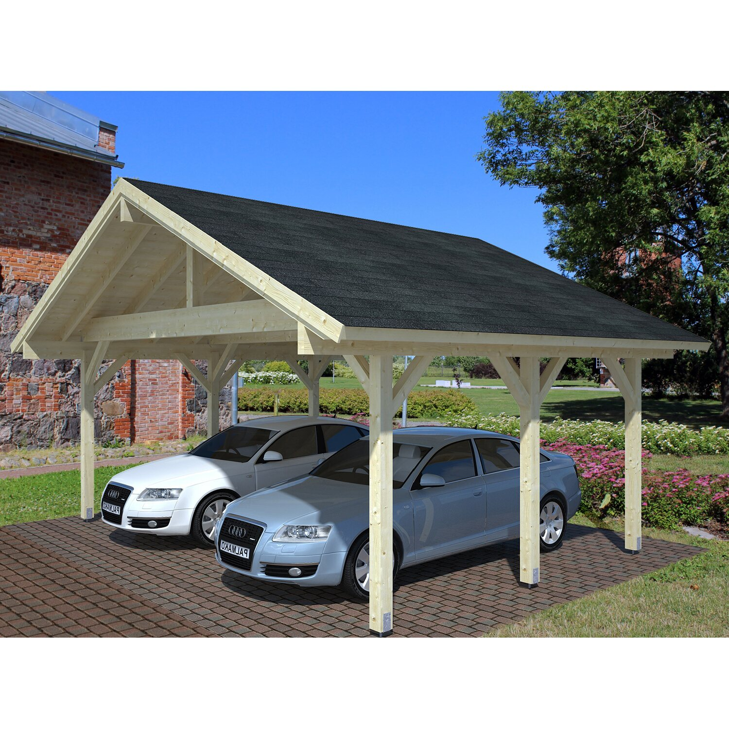 palmako carport robert natur 555 cm x 372 cm kaufen bei obi. Black Bedroom Furniture Sets. Home Design Ideas