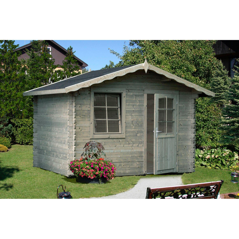 palmako holz gartenhaus emma grau bxt 240 cm x 200 cm inkl fu boden kaufen bei obi. Black Bedroom Furniture Sets. Home Design Ideas