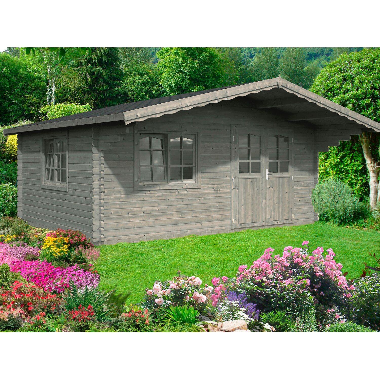 palmako holz gartenhaus sally grau bxt 510 cm x 390 cm inkl fu boden kaufen bei obi. Black Bedroom Furniture Sets. Home Design Ideas