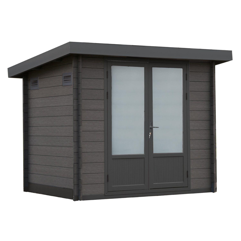 wolff finnhaus wpc trend b grau b x t 234 cm x 187 cm kaufen bei obi. Black Bedroom Furniture Sets. Home Design Ideas