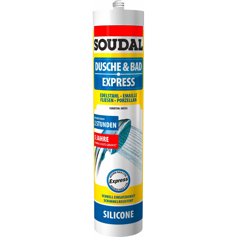 Soudal  Dusche & Bad Express Silikon Weiß 300 ml