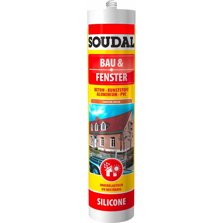 Soudal  Bau & Fenster Silikon Buche 300 ml