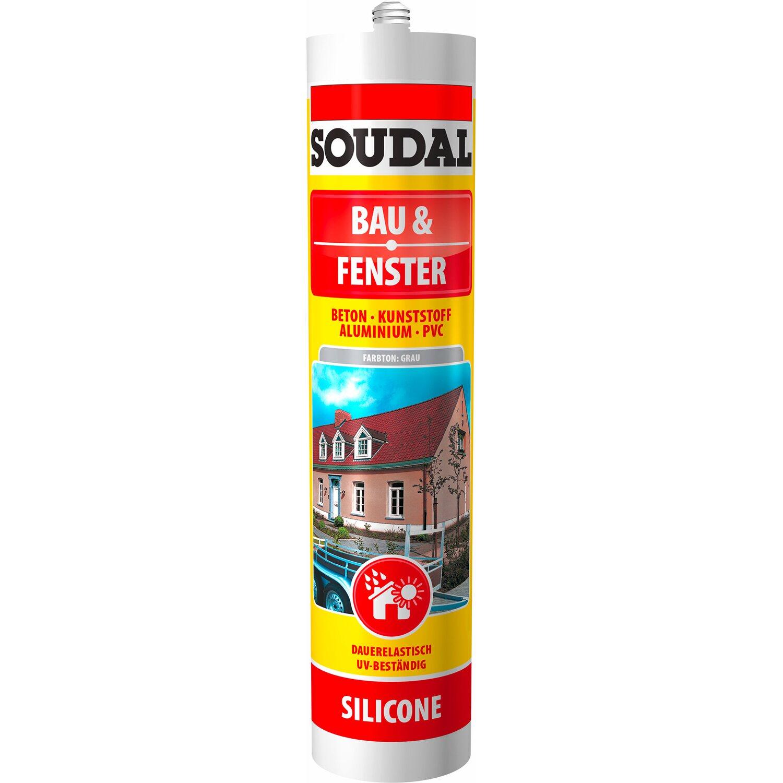 Soudal  Bau & Fenster Silikon Grau 300 ml
