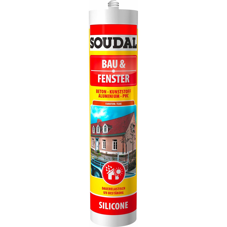 Soudal  Bau & Fenster Silikon Teak 300 ml