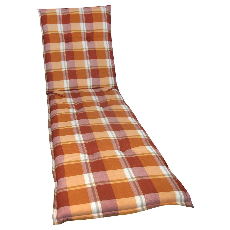 liegen auflage langeoog rot orange kariert kaufen bei obi. Black Bedroom Furniture Sets. Home Design Ideas
