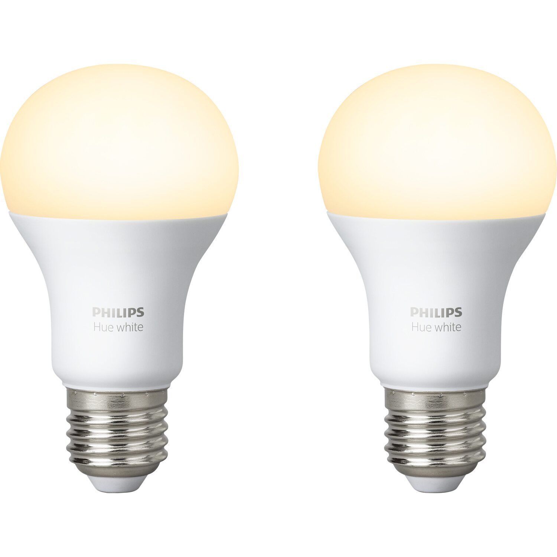 Philips Hue LED Lampe White Doppelpack E27/ 9,5W EEK A+ kaufen bei OBI