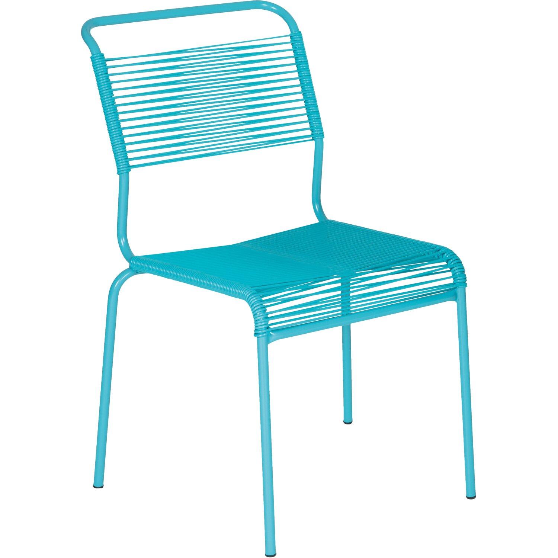 schaffner gartenstuhl s ntis spaghetti stapelbar t rkis. Black Bedroom Furniture Sets. Home Design Ideas