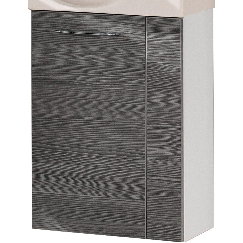 Fackelmann  Gäste-Waschbeckenunterschrank links 44 cm Vadea Weiß-Pinie