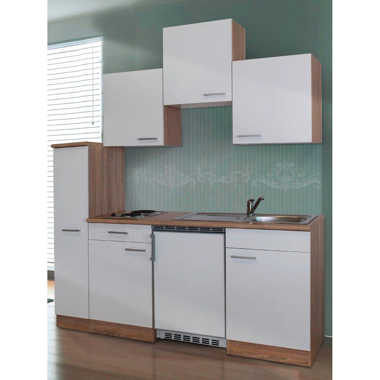 respekta k chenzeile kb180esw 180 cm wei eiche sonoma s gerau nachbildung kaufen bei obi. Black Bedroom Furniture Sets. Home Design Ideas