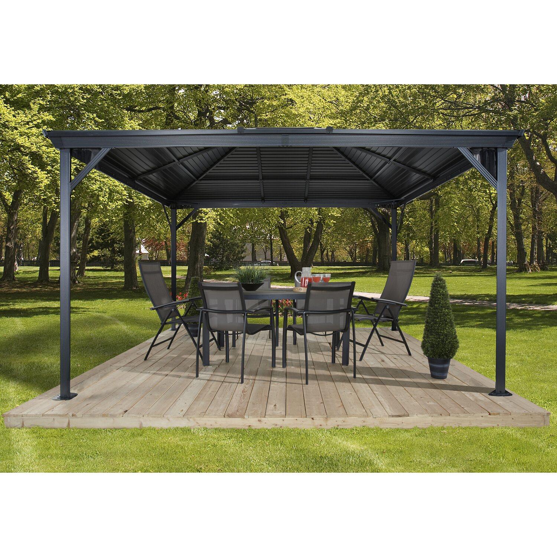 sojag aluminium pavillon ventura 10 x 10 anthrazit 296 cm. Black Bedroom Furniture Sets. Home Design Ideas