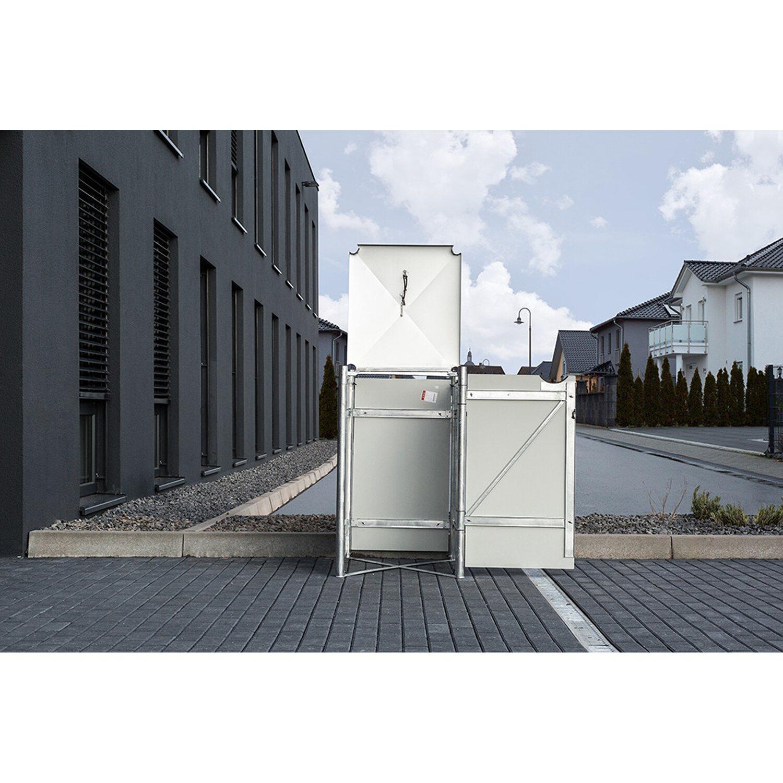 hide mülltonnenbox kunststoff 64 cm x 61 cm x 116 cm schwarz kaufen