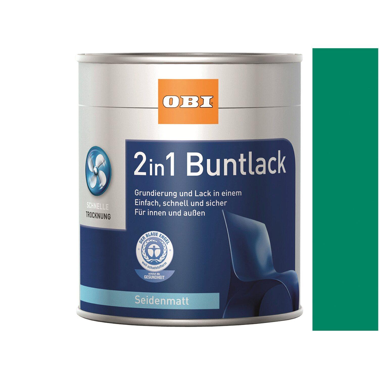OBI  2in1 Buntlack Bergischgrün seidenmatt 750 ml