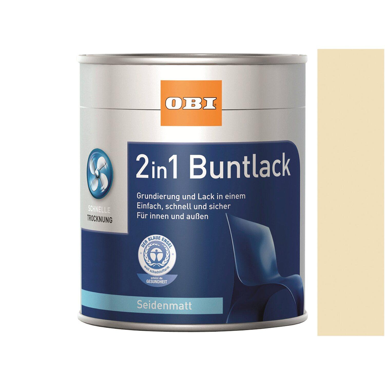 OBI  2in1 Buntlack Beige seidenmatt 375 ml