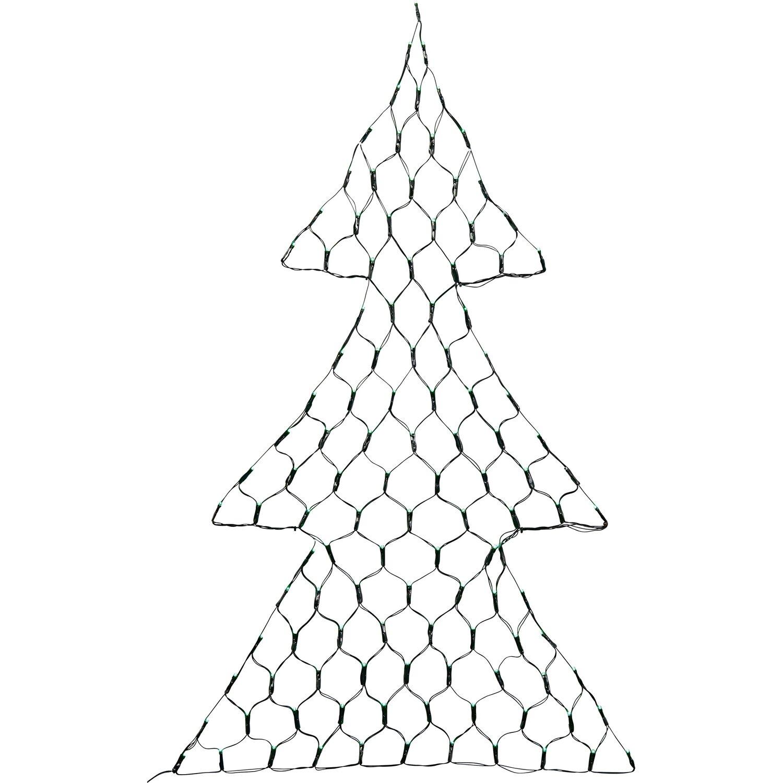Tannenbaum Beleuchtet Aussen.Led Lichternetz Tannenbaum 118 Grüne Leds Innen Und Außen Kaufen Bei Obi