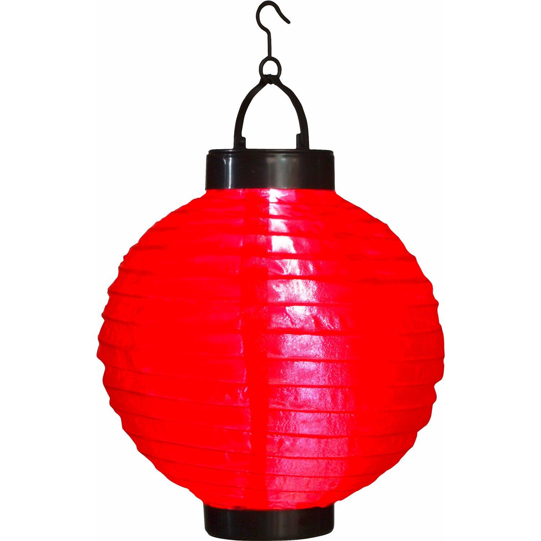 Globo Solarleuchte Lampion Rot