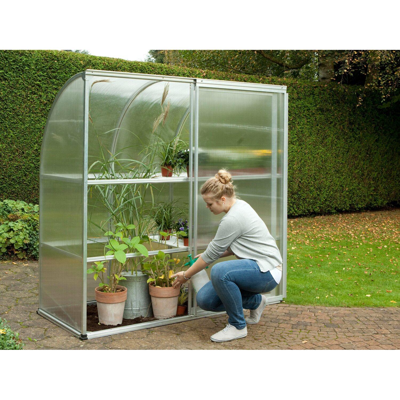 kgt tomaten gew chshaus edelwei alu blank h he ca 180 cm kaufen bei obi. Black Bedroom Furniture Sets. Home Design Ideas