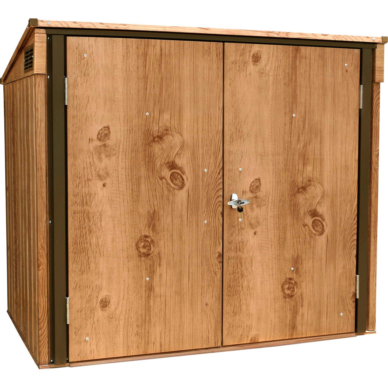 tepro mülltonnenbox holz dekor eiche 130,5 cm x 154,2 cm x 96 cm