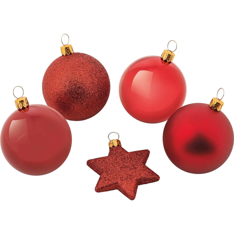 Weihnachtskugel set 50 teilig rot kaufen bei obi - Obi weihnachtskugeln ...