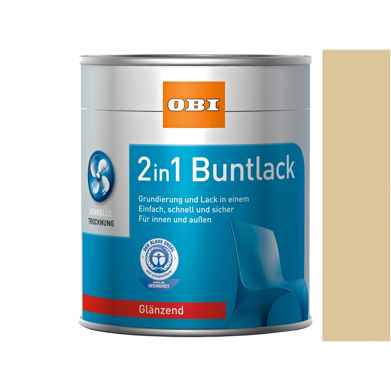 OBI  2in1 Buntlack Beige glänzend 375 ml