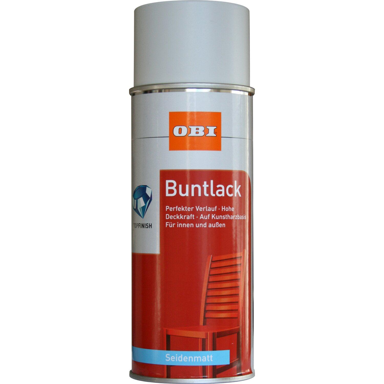 OBI  Buntlack Spray Lichtgrau seidenmatt 400 ml