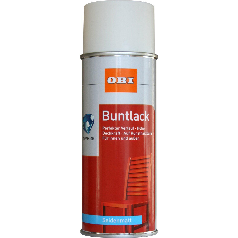 OBI  Buntlack Spray Cremeweiß seidenmatt 400 ml