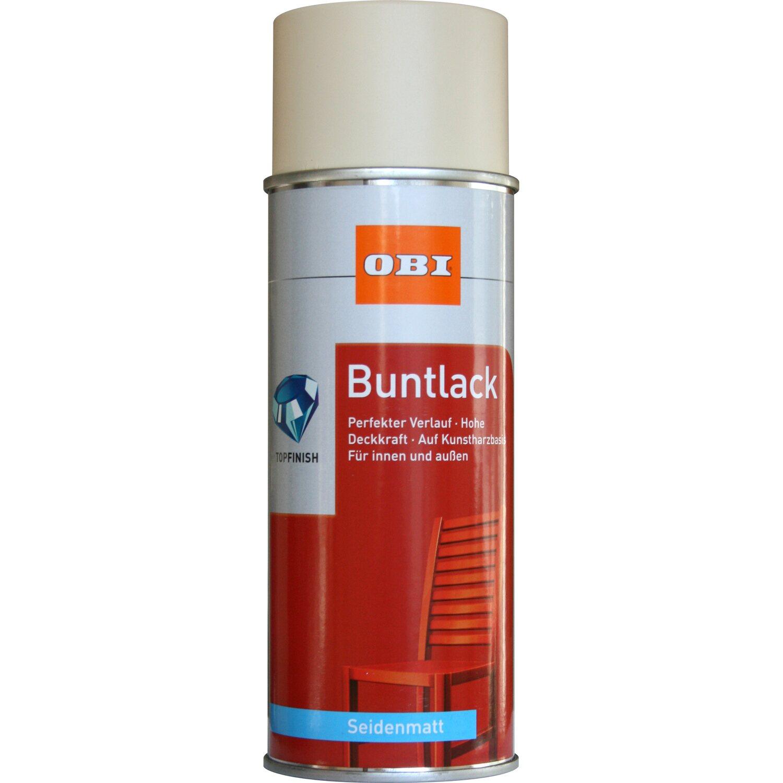 OBI  Buntlack Spray Hellelfenbein seidenmatt 400 ml