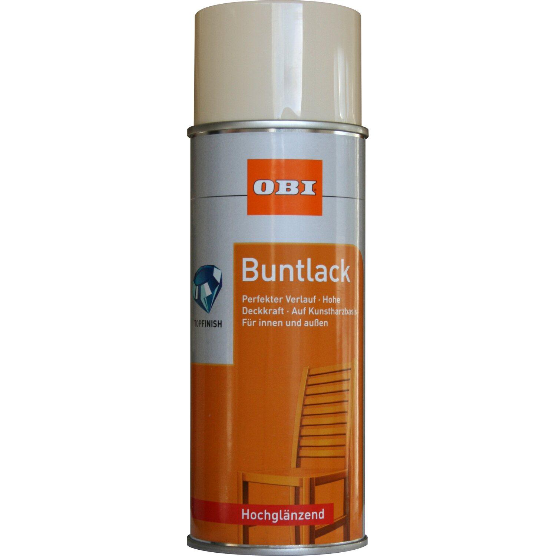 OBI  Buntlack Spray Hellelfenbein hochglänzend 400 ml