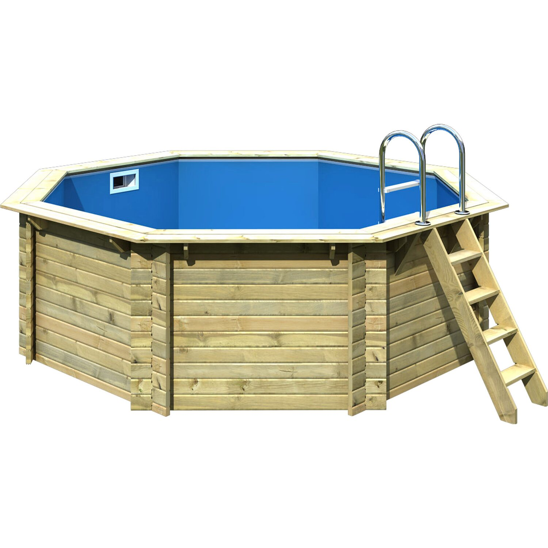 karibu pool set 1 a massivholz 400 cm x 124 cm inkl. Black Bedroom Furniture Sets. Home Design Ideas