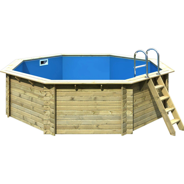 Karibu pool set 2 a 470 cm x 470 cm x 124 cm inkl zubeh r for Obi sandfilteranlage pool