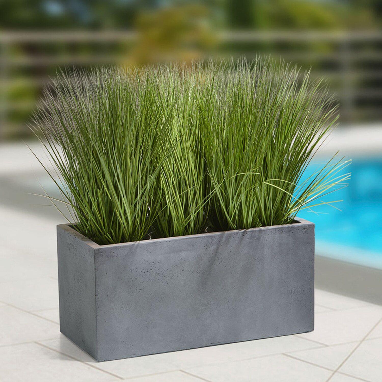Gartenfreude Pflanzkübel 79 cm x 37,5 cm Grau kaufen bei OBI