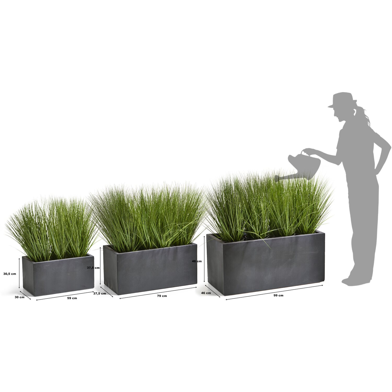 Gartenfreude Pflanzkubel 3er Set Gross Anthrazit Kaufen Bei Obi