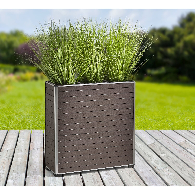 Gartenfreude Pflanzkubel Wpc 74 Cm X 25 5 Cm X 75 Cm Braun Kaufen